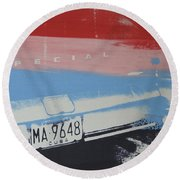 Multicolor Fender Round Beach Towel