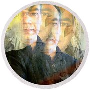 Round Beach Towel featuring the photograph Multiverse by Prakash Ghai