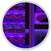 Round Beach Towel featuring the photograph Mum Series - Abstract - Purple Haze by Brooks Garten Hauschild