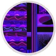 Mum Series - Abstract - Purple Haze Round Beach Towel by Brooks Garten Hauschild