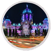 Mumbai Moment Round Beach Towel
