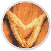 Mummies Love Halloween Round Beach Towel
