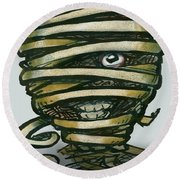 Mummy  Round Beach Towel