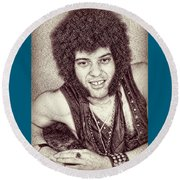 Mungo Jerry Portrait - Drawing Round Beach Towel
