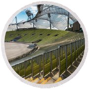 Munich - Olympic Stadium Round Beach Towel