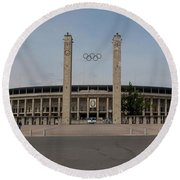 Berlin Olympic Stadium Round Beach Towel