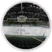 Munn Ice Arena  Round Beach Towel by John McGraw