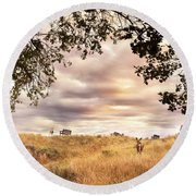 Munson Morning Round Beach Towel