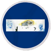 Mural Round Beach Towel