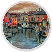Murano Twilight Round Beach Towel