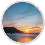 Murder Hole Beach Round Beach Towel