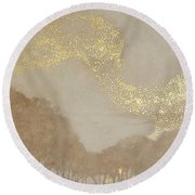 Murmuration Of Light, 2015 Round Beach Towel