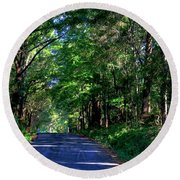Round Beach Towel featuring the photograph Murphy Mill Road - 2 by Jerry Battle