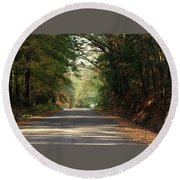 Round Beach Towel featuring the photograph Murphy Mill Road by Jerry Battle