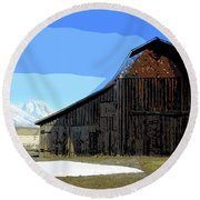 Murphy's Barn Round Beach Towel