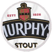Murphys Irish Stout Round Beach Towel