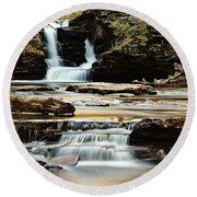 Murray Reynolds Falls Round Beach Towel