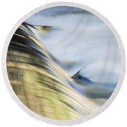 Round Beach Towel featuring the photograph Murrumbidgee River by Angela DeFrias