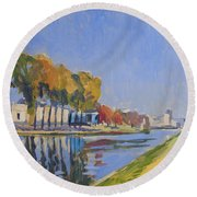 Musee La Boverie Liege Round Beach Towel