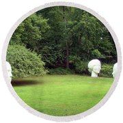 Muses Round Beach Towel by Betsy Zimmerli