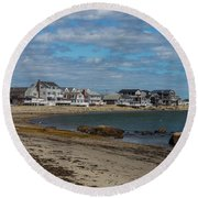 Museum Beach Scituate Massachusetts Round Beach Towel