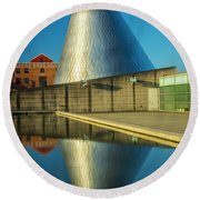 Museum Of Glass Tower Round Beach Towel