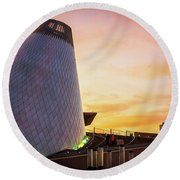 Museum Of Glass Tower#2 Round Beach Towel
