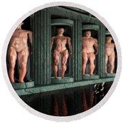 Museum Of Inner Demons Round Beach Towel