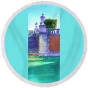Museum Pool, Miami Round Beach Towel
