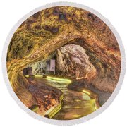 Mushpot Cave Round Beach Towel by Richard J Cassato
