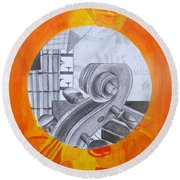 Music 3 Round Beach Towel