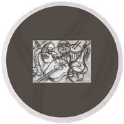 Music Dreams And Illusions Round Beach Towel