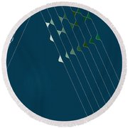 Music Hall Round Beach Towel by Kevin McLaughlin
