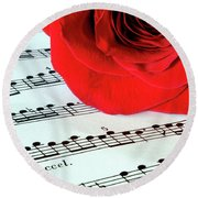 Music Lover  Round Beach Towel