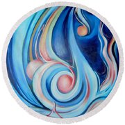 Music Of The Spheres Round Beach Towel