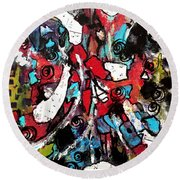 Musical Cacophony 1 Round Beach Towel