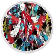 Musical Cacophony Round Beach Towel
