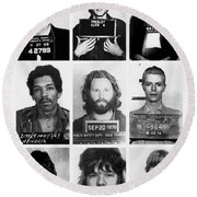 Musical Mug Shots Three Legends Very Large Original Photo 9 Round Beach Towel
