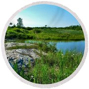 Round Beach Towel featuring the photograph Muskoka Ontario 4 by Claire Bull
