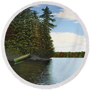 Muskoka Shores Round Beach Towel