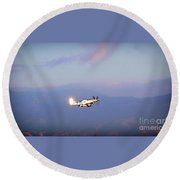 Mustang Horizon Round Beach Towel