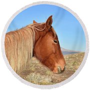 Mustang Mare Round Beach Towel