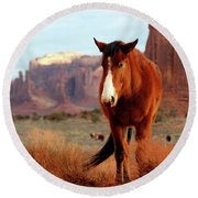 Mustang Round Beach Towel
