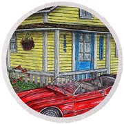 Mustang Sallys' Place Round Beach Towel