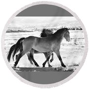 Mustangs Round Beach Towel