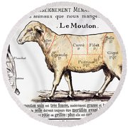 Mutton Round Beach Towel by French School