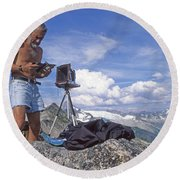 Round Beach Towel featuring the photograph Mxx133 Ed Cooper On Hidden Lakes Peaks Wa by Ed Cooper Photography