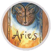 My Aries Round Beach Towel