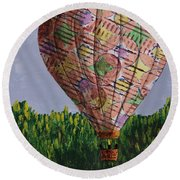 My Beautiful Balloon Round Beach Towel