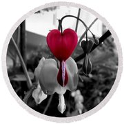 My Bleeding Heart Round Beach Towel